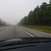 Smoke was thick along I-40 on the ride to Kure Beach due to fires in Bladen County