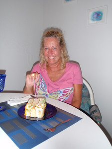 We celebrated Mary's 06/24 birthday with a big piece of cake and candle