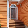 Front door painted Dover Gray...looks nice with the Candied Yam house!