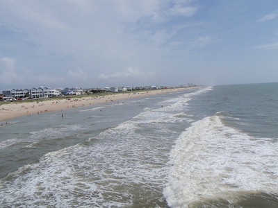 View from the Kure Beach Pier, looking north.