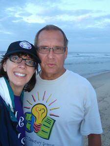 On Friday morning 07/04/14, we head to the beach very early to look for seashells washed up from Hurricane Arthur