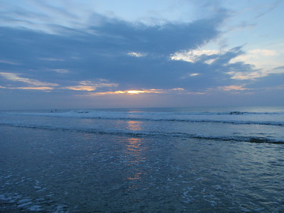 Sunrise at Kure Beach after Hurricane Arthur