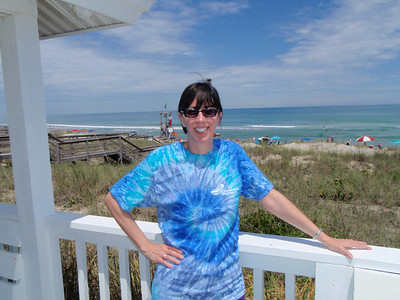 Jenny at the Kure Beach Village gazebo