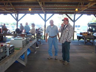 Kutztown's permanent old radio presence Louie on right