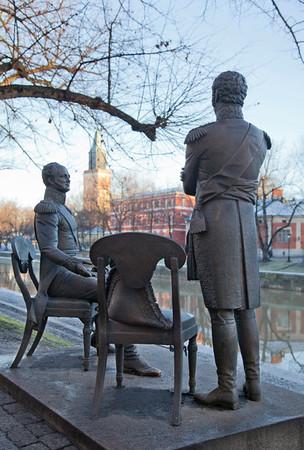 Venäjän keisarin ja Ruotsin kruununperillisen tapaaminen 1812 Aurajoen rannassa