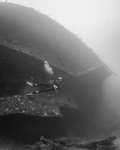 Diver on the Prinz Eugen