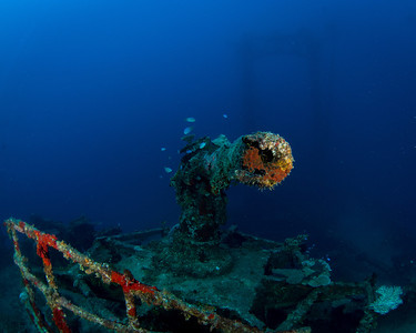 Bow gun on the Asakaze Maru