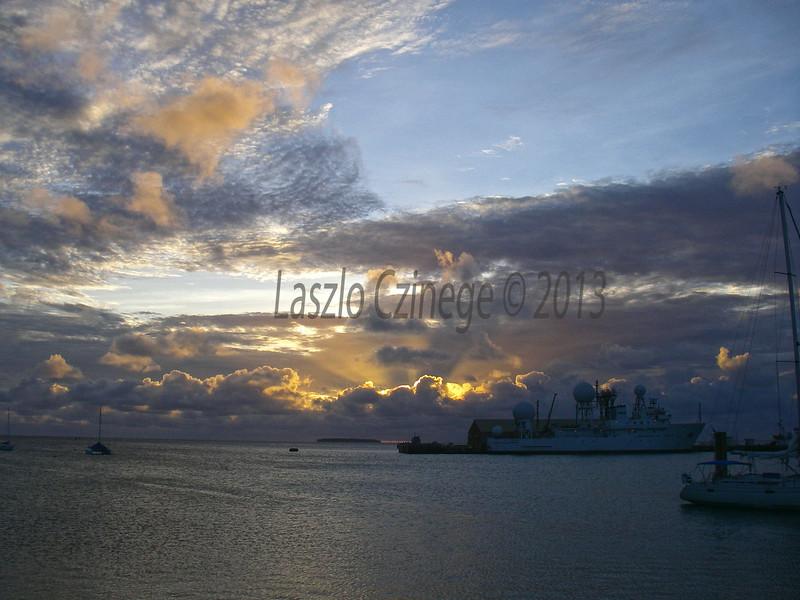 Boathouse Sunset, Kwaj Harbor