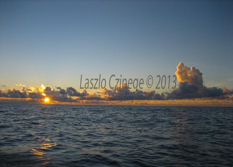 Sunrise on the way to Lib Island