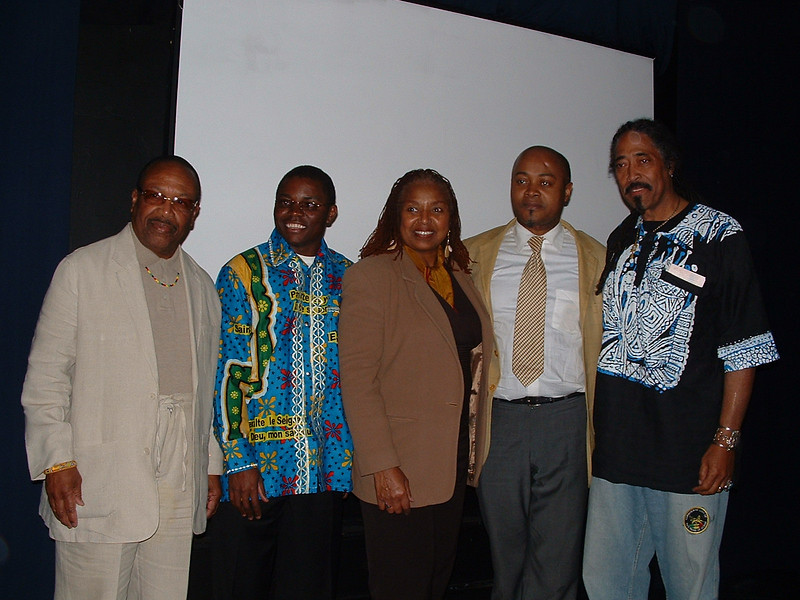 From Left:  Dr. Kwaku Person-Lynn, Mr. Lumumba's intepreter