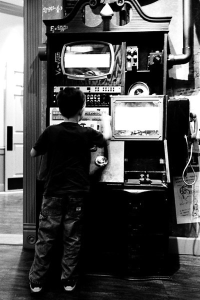 Kyle doing some mad science at Professor Pennypickles in Temecula, CA, Feb 2013. Taken with Kodak Tri-X film.