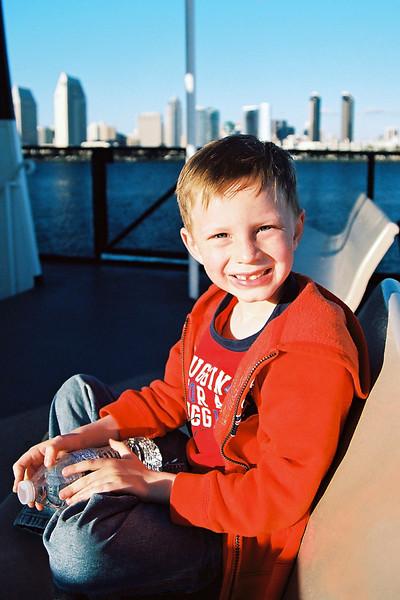 On the ferry between Coronado Island and downtown San Diego, CA, Feb 2013.