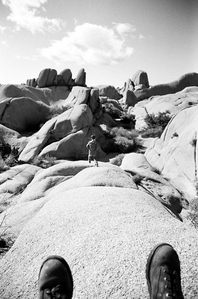 Kyle and I on a hike at Jumbo Rocks Campground, Joshua Tree National Park, CA, Feb 2013.