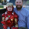 Kyle and Daddy on the tailgate of my truck, Halloween, San Angelo, Tx, 2012.