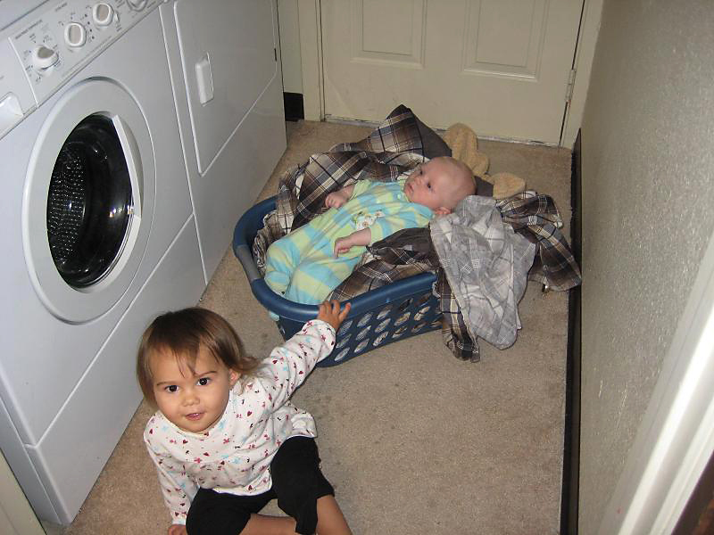 He already has the ladies trained; do my laundry and carry me around.