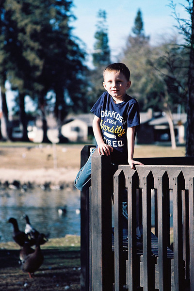 At the park with Grammy, Turlock, CA, Jan 2013.
