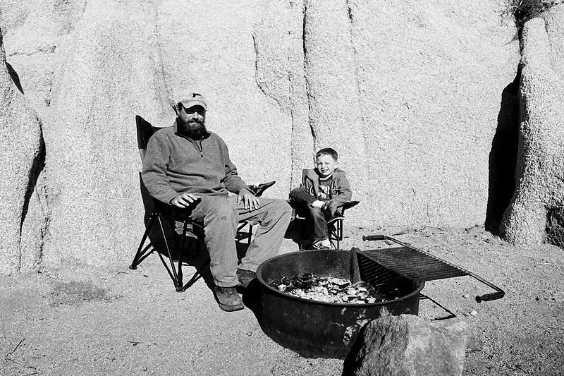 Camping at Jumbo Rocks with kiddoface, Joshua Tree National Park, Feb 2013.