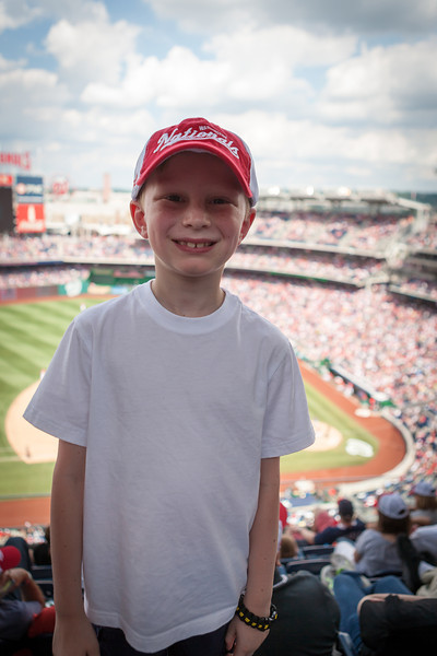 Kyle and I attended a Washington Nationals game against the Atlanta Braves. Nationals won! It was his first Major League game. Digital, June 2014.