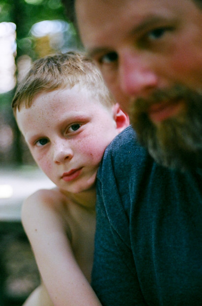 A little Dad and son time never hurt. Aug 2016. Kodak Portra.