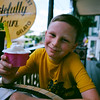 Getting some gelato at Occoquan, Virginia. Aug 2016. Kodak Portra.
