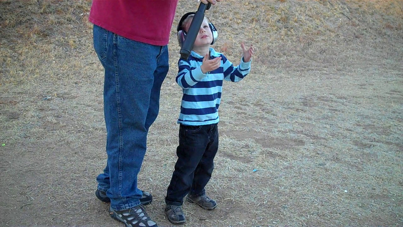 Kyle shooting the AR at the range, San Angelo, Tx, 2011.