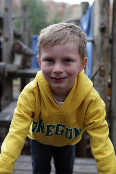 Kyle playing at the playground at the campground. Nov 2013.