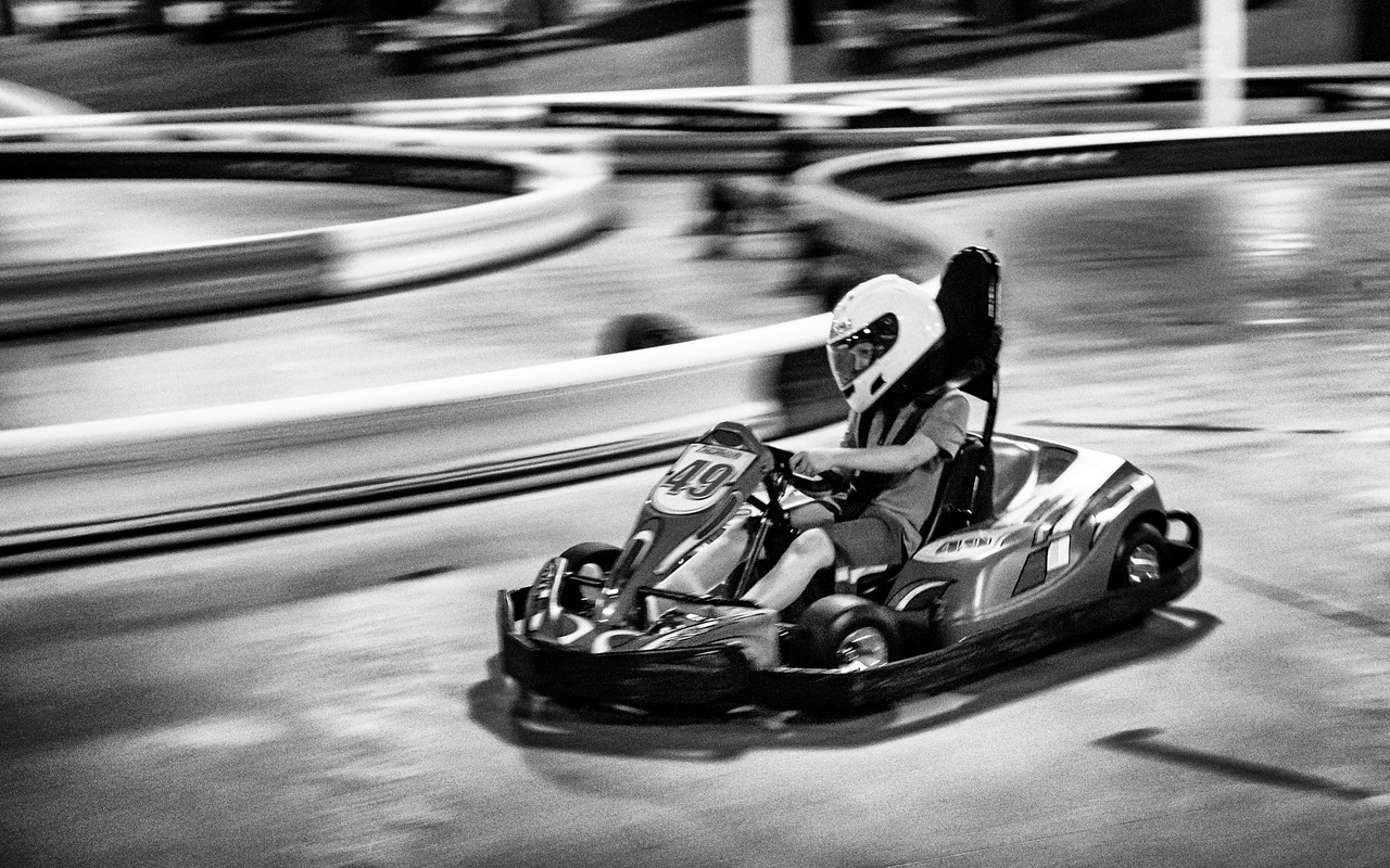 Autobahn Indoor Cart Racing. Manassas, VA. Digital. July 2017.