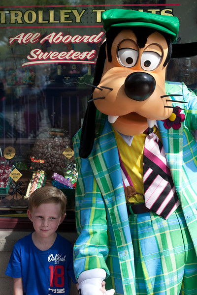 He was super shy around Goofy.