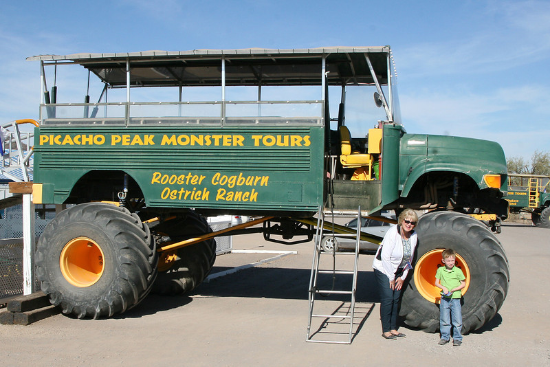 The monster truck I convinced Grammy to ride with Kyle and I. Totally fun bouncing through the desert on this puppy.