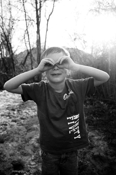 He says these are his binoculars. Taken on a hike outside of Temecula, CA, Feb 2013. Taken with Kodak Tri-X film.