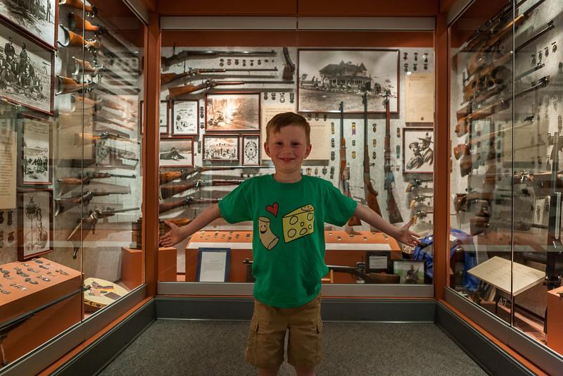 National Firearms Museum, NRA Headquarters, Fairfax, Virginia. Digital, June 2014.