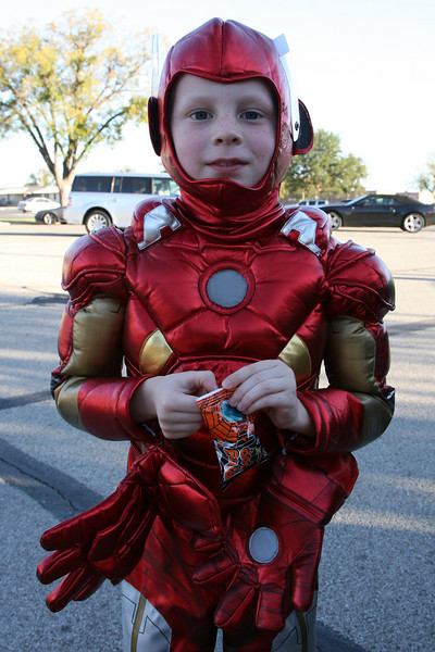 Kyle was Iron Man, Halloween 2012, San Angelo, Tx.
