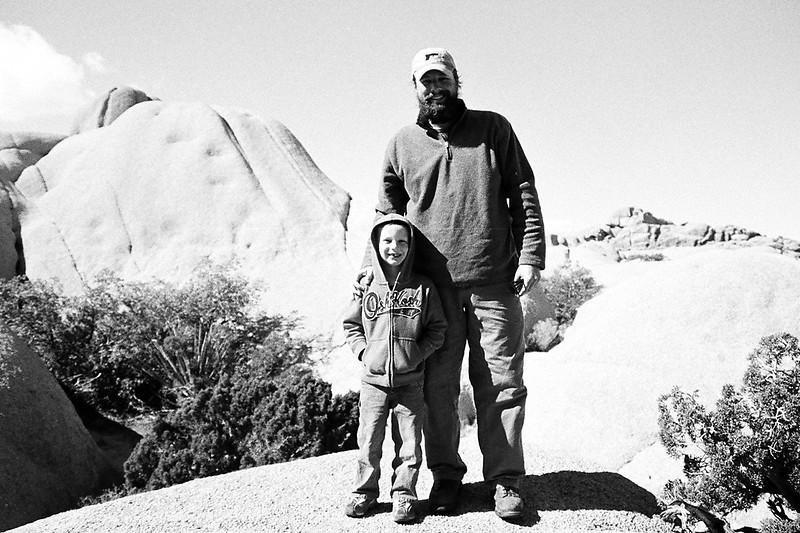 Kyle and I on a hike at Jumbo Rocks Campground, Joshua Tree National Park, CA, Feb 2013.