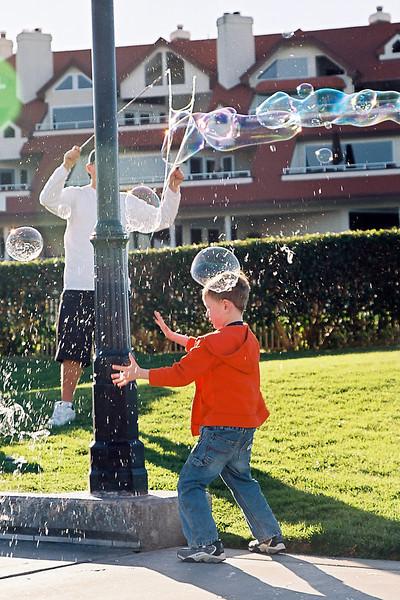 Popping bubbles on Coronado Island, Feb 2013.