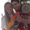 "Kyle and Katie ready for Senior ""Assassins""."