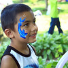 Julian Nieves with his face painting .