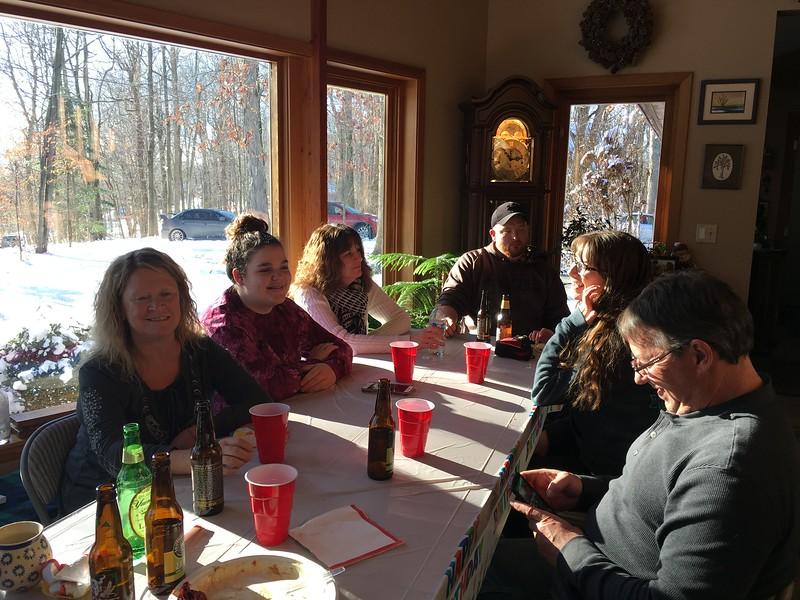 Janice, Zoe, Aunt Tammy, Craig, Emma, and  Paul
