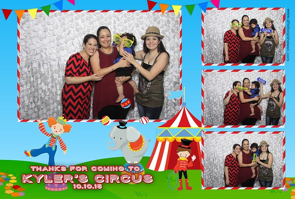 Kyler's Circus 1st Birthday (Fusion Photo Booth)