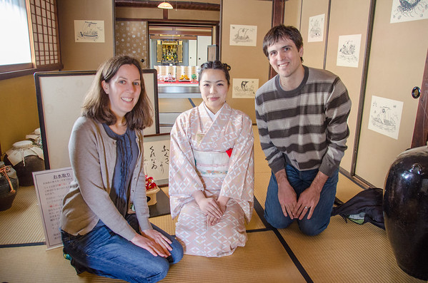 At the Nakamura Tokichi Honten with our lovely tea instructor, Moegi