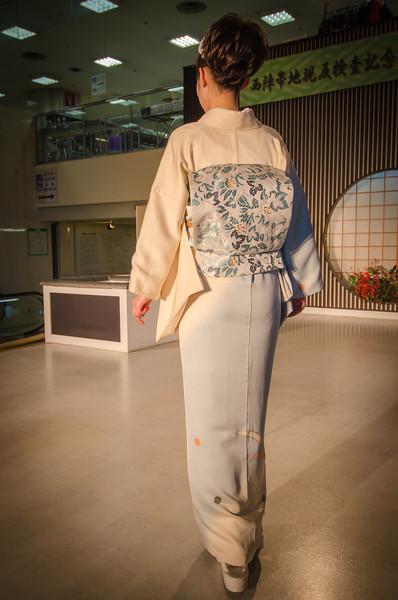 Kimono Fashion Show at the Nishijin Textile Center, Kyoto, Japan