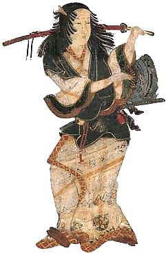 The earliest known portrait of Izumo no Okuni dates from the 1600s image copyright Michael Lambe
