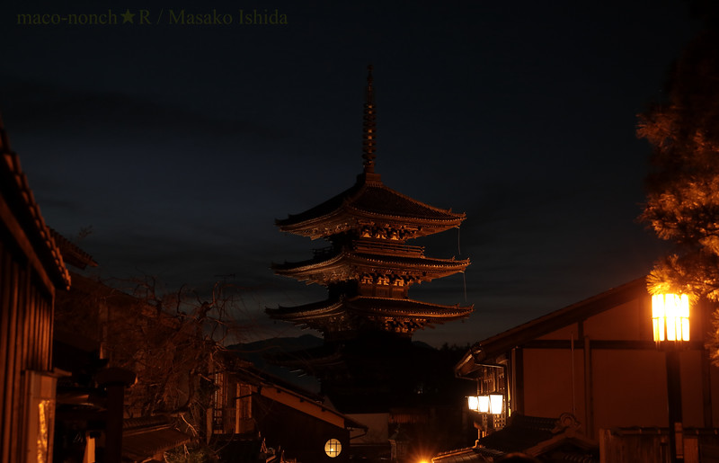 Yasaka Pagoda -Quiet Night in Kyoto