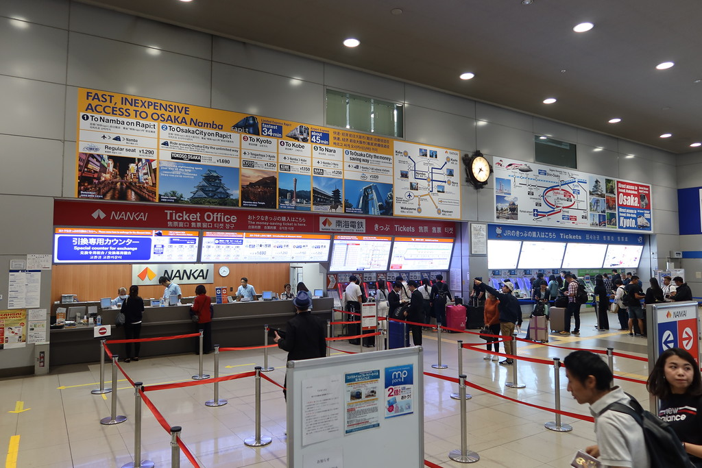 Nankai Line ticket counter and machines