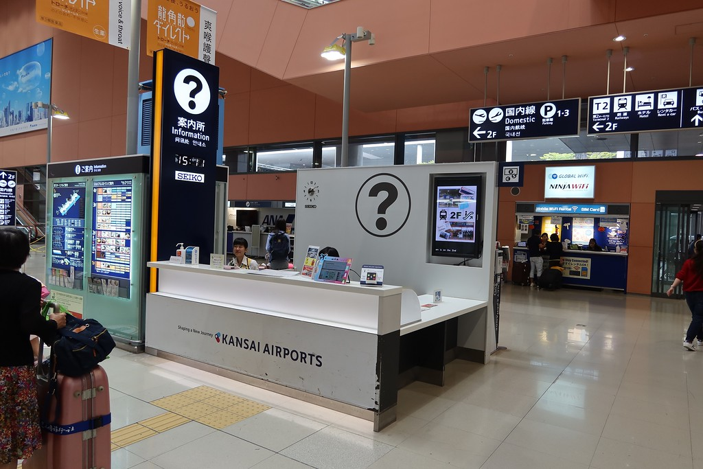 Kansai Airports information counter