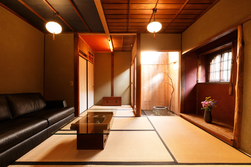 Living room of Old Kyoto Amber House