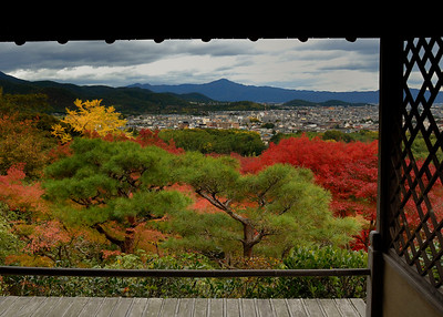 View pf Kyoto from Okochi Sanso Garden