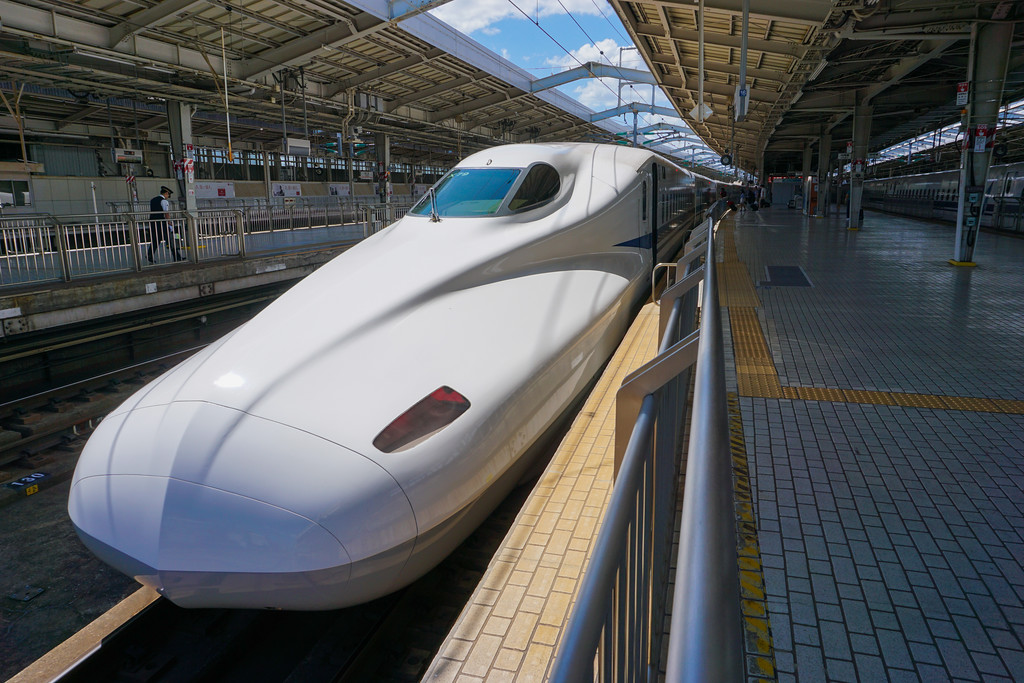 Shinkansen in Osaka Station. Editorial credit: Luca Brianza / Shutterstock.com