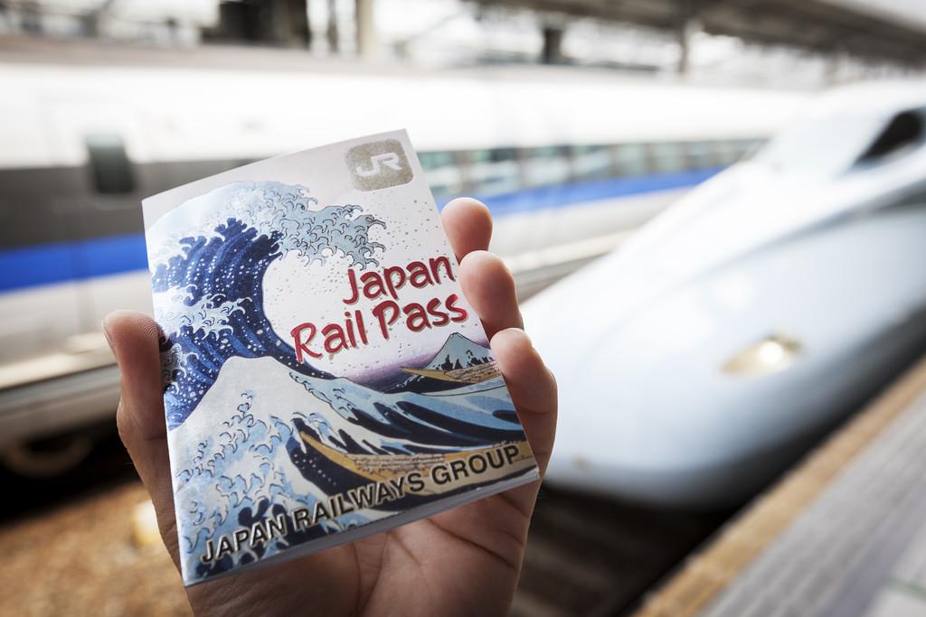 Japan Rail Pass with shinkansen. Editorial credit: antb / Shutterstock.com