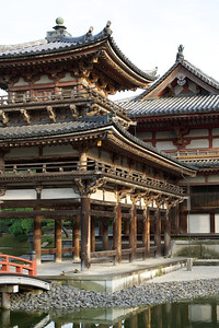 Byodo-in Temple, Entry to Phoenix Hall  Japanese World Cultural Heritage in Uji City near Kyoto