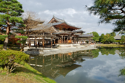 Byodo-in Temple Backside with Reflection in Lake  Japanese World Cultural Heritage in Uji City, south of Kyoto